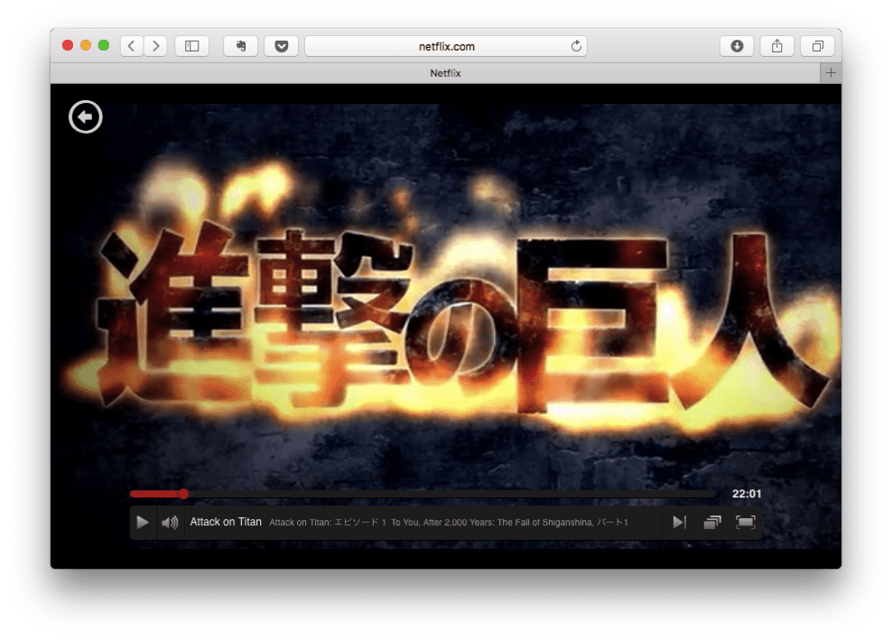 Netflix「進撃の巨人」タイトル